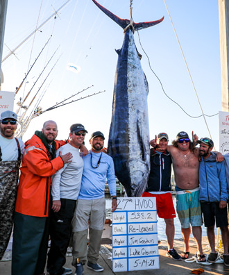Re-Leased - 538.2 lb. Blue Marlin from Day 3.