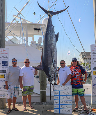 Top Dog - 455.5 lb. Blue Marlin from Day 4.