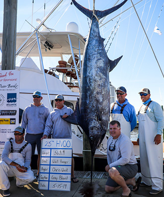 Wall Hanger - 563.9 lb. Blue Marlin from Day 1.